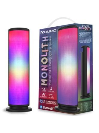 Aduro LED Bluetooth Speaker with Pulsating Lights Wireless Color Changing Portable Outdoor Party Tower Speaker Universal