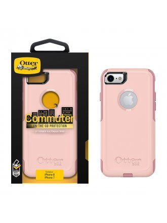 APPLE IPHONE 7 / IPHONE 8 OTTERBOX COMMUTER CASE - BALLET WAY (PINK SALT AND BLUSH)