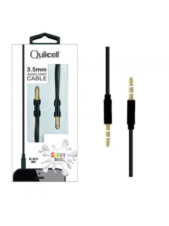 Quikcell - 3.5mm Auxiliary Cable 1M