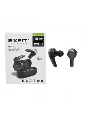 EXFIT BCS-T90 Bluetooth True Wireless Earbuds - Black