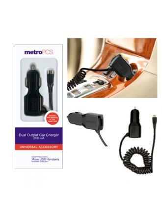 DUAL OUTPUT CAR CHARGER 2.1A