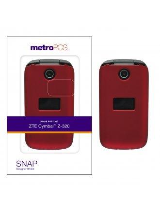METRO PCS ZTE CYMBALL Z - 320 RED TWO PIECE SHIELD