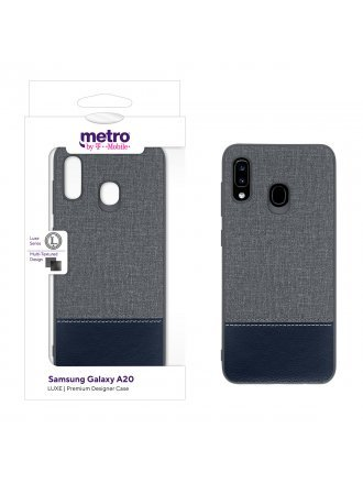 Metro by T-Mobile Samsung Galaxy A20 LUXE Premium Designer Case - Dipped Leather