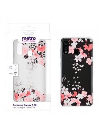 Metro by T-Mobile Samsung Galaxy A20 STYLE Designer Fashion Case – Falling Blooms