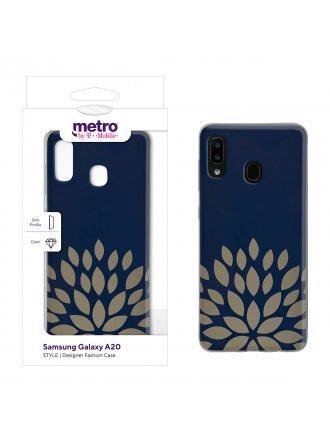 Metro by T-Mobile Samsung Galaxy A20 STYLE Designer Fashion Case – Golden Burst
