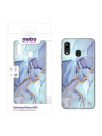 Metro by T-Mobile Samsung Galaxy A20 STYLE Designer Fashion Case – Marble Tide