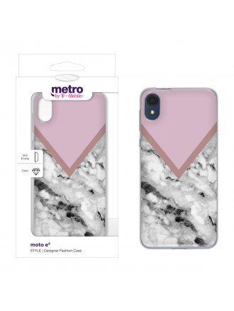 Metro by T-Mobile moto e6 STYLE Designer Fashion Case - Color block Marble