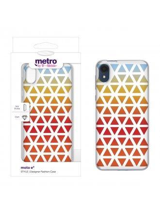 Metro by T-Mobile moto e6 STYLE Designer Fashion Case - Desert Sky Ombre