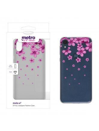 Metro by T-Mobile moto e6 STYLE Designer Fashion Case - Floral Cascade