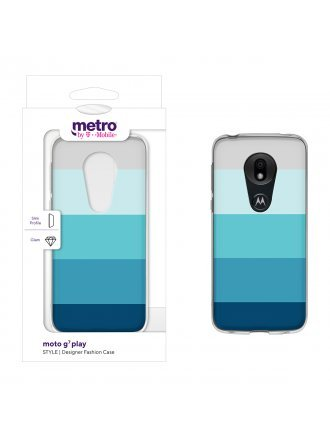 Metro by T-Mobile moto g7 play STYLE Designer Fashion Case - Cool Color Block