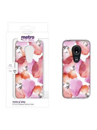 Metro by T-Mobile moto g7 play STYLE Designer Fashion Case - Pansy Watercolor