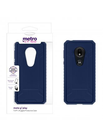 Metro by T-Mobile moto g7 play TUFF Rugged Protective Case – Blue