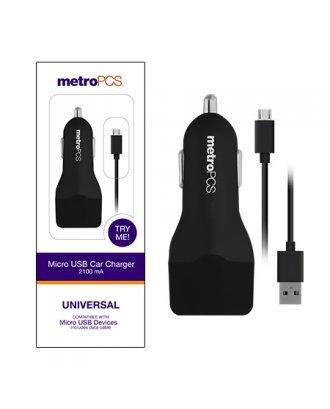 MetroPCS Micro USB Wall Charger - 3.1A - Black/Black