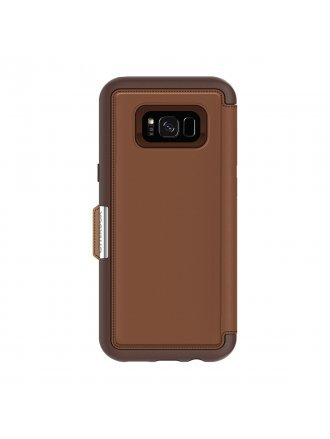 OtterBox Samsung Galaxy S8+ Strada Series Folio Case – Burnt Saddle