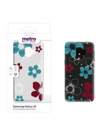 Metro by T-Mobile Samsung Galaxy J2 STYLE Designer Fashion Gel Case - Azalea Bloom