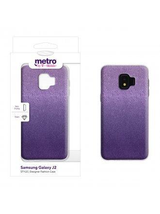Metro by T-Mobile Samsung Galaxy J2 STYLE Designer Fashion Gel Case  - Grape Ombre