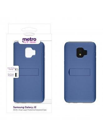 Metro by T-Mobile Samsung Galaxy J2 KICK+ Dual-Layer Protective Kickstand Case – Blue/Gray