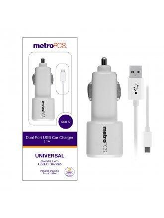 DUAL PORT USB CAR CHARGER 3.1 A