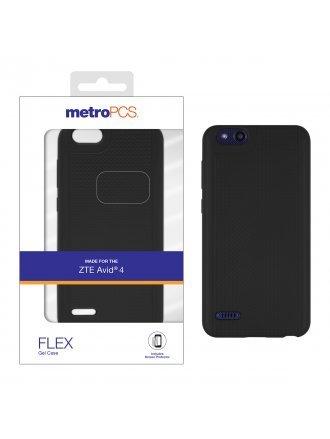 MetroPCS ZTE Avid 4 Black Gel Case and Screen Protector