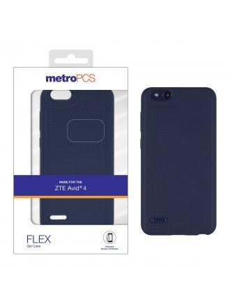 MetroPCS ZTE Avid 4 Blue Gel Case and Screen Protector