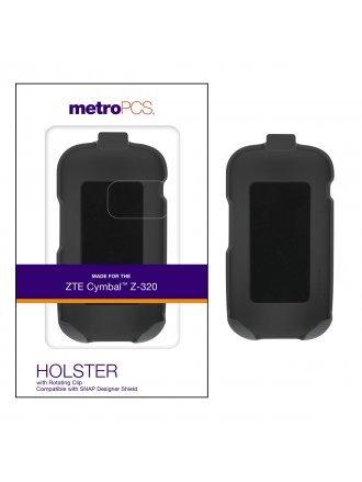 METRO PCS ZTE CYMBAL Z-320 STANDALONE HOLSTER BLACK