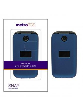 METRO PCS ZTE CYMBAL Z-320 BLUE TWO PIECE SHIELD