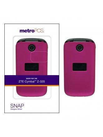 METRO PCS ZTE CYMBAL Z- 320 ROSE PINK TWO PIECE SHIELD