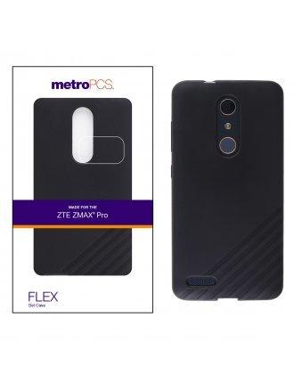 METRO PCS ZTE MAX PRO BLACK GEL CASE