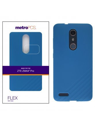 METRO PCS ZTE MAX PRO BLUE GEL CASE