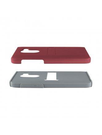 METRO PCS ALCATEL A 30 FIERCE METALIC RED PC / GRAY TPU WITH KICK STAND