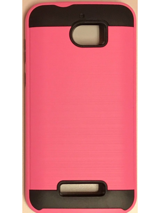 MOTO E4(USA) Brushed  Metal Case  Pink Black