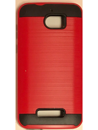 MOTO E4(USA) Brushed  Metal Case  Red  Black