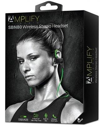 Aduro Amplify SBN80 Wireless In Ear Bluetooth Stereo Headset  Built In Mic green