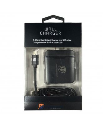 VACCESSORIZE TYPE C WALL CHARGER 3.4 AMP DUAL OUTPUT