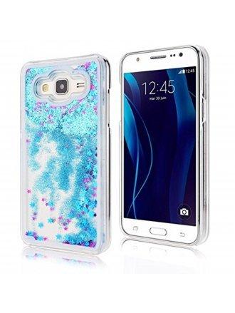 Samsung J3 2017 Quickstand Liquid Case / Blue