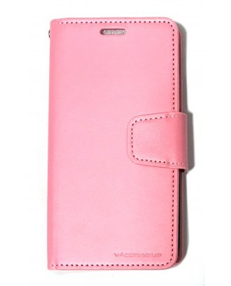 """IPHONE XS MAX 6.5"""" CZERNY WALLET HOT PINK BLACK"""