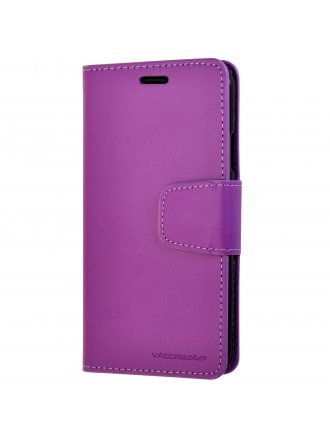 LG K51 Wallet Case Purple Black