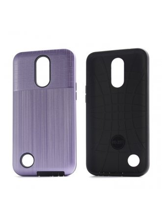 Moto G Stylus Combo Case Brushed Metal Finish Purple Black