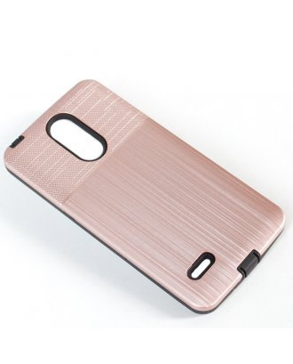 LG K51 Combo Case Brushed Metal Finish Gold Black