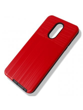 A50 Combo Case Brushed Metal Finish Red Black