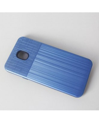 Samsung A01 Cover Plus Combo Case Brushed Metal Finish Blue Black