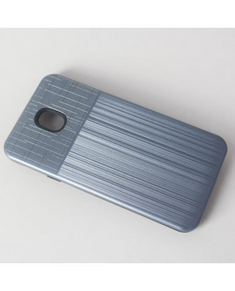 LG Aristo 3 Plus Cover Plus  Combo Case Brushed Metal Finish Grey Black