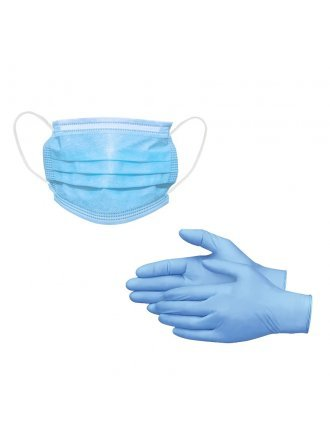Nitrile Gloves+ 3 Ply Disposable Masks (50-PACK)