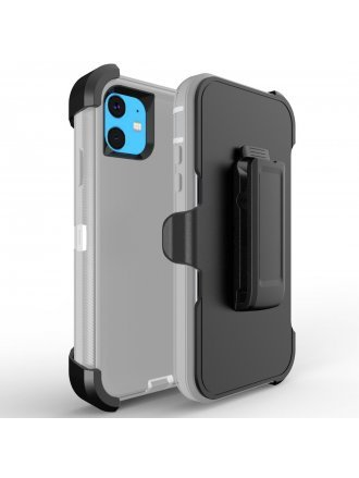 Apple iPhone 11 6.5 Pro Max Heavy Duty Armor Case Belt Clip Holster Case Grey