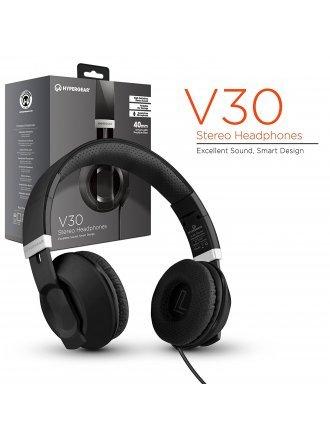 HYPERGEAR V30 STERO HEADPHONES 40MM BLACK