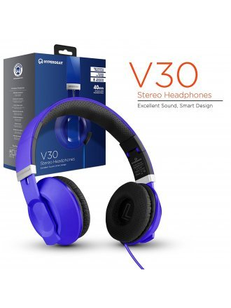 HYPERGEAR V30 STERO HEADPHONES 40MM BLUE