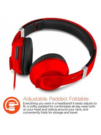 HYPERGEAR V30 STERO HEADPHONES 40MM RED