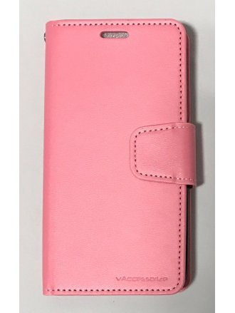MOTO E4(USA) CZERNY WALLET Pink Black