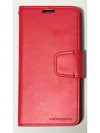 Alcatel A30 Fierce 2017/ Walters CZERNY WALLET Red Black