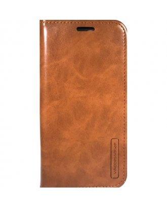 """iPhone XR 6.1"""" Folio Premium Leather Case Brown"""